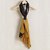 Fashionable Stole in Classic Black and Yellow