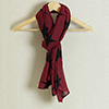 Fashionable Stole in Classic combination of Black and Maroon