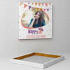 Festoons Personalized Birthday Canvas