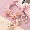 Floral Cute Kitty Design Kids Hair Accessories