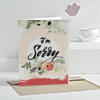 Floral Design Sorry Greeting Card