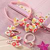 Floral Kitty Design Kids Hair Accessories