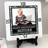 Flower Frame Personalized Anniversary Clock
