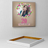 Flower Frame Personalized Birthday Canvas
