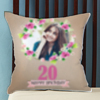 Flower Frame Personalized Birthday Cushion
