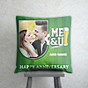 Football and Beer Personalized Anniversary Cushion