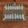 Frosted and Clear Glass Chess Board