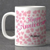 Full of Hearts Personalized Anniversary Mug