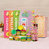 Funskool-Fundough Fun Pack Of 12, Multi Colour with Hello Kitty Sketch Pens & Educational Stickers