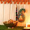 Ganesha Hanging with 500 Gms Anjeer Modak & Brass Bowl