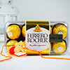 Ganesha Rakhi with Ferrero Rocher