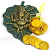 Ganesha Wall Hanging With Gold Coin Chocolates