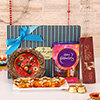 Gift box of Tikka Thali, Karachi Halwa and Chocolates