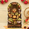 Goddess Laxmi Wooden Carved Painting
