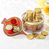 Gold Coin Chocolate Box With Tikka