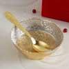 Gold plated Floral Serving Set