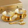 Gold-Plated Serving Set of Two