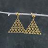 Gold Plated Triangular Dangler Earrings
