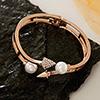 Golden Pearl & Diamond Bracelet