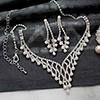 Gorgeous Diamond and Pearl Necklace Set
