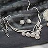 Gorgeous Pearl and Diamonds Pendant Set