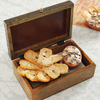 Gur & Mango Gajak With Chocolate And Gur Revdi In Wooden Embossed Box