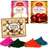 Haldiram Gulab Jamun & Rasgulla with Holi Colors and Chocolate
