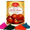 Haldiram Gulab Jamun with 4 Shades of Gulal