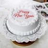 Half Kg New Year Vanilla Cake in Round Shape