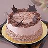 Half Kg Round Chocolate Cake with Chocolate Stars Topping