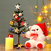 Hamper of Teddy, Candle & Tree for Christmas