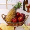 Handle Basket of Apples & Pineapple