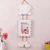 Hanging White Teddy Bear Personalized Photo Frame