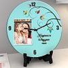 Happiness is Mom's Hug Personalized Round Clock