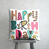 Happy Birthday Satin Cushion
