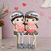 Happy Love Figurative Couple