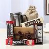 Hersheys Chocolates With Nescafe Sachets & Steel Mug