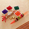 Holi Colors with Pichkari and Homemade Chocolates