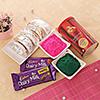 Holi Gulal with Gujiya and Chocolate Combo