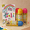 Holi Spray Colors with Greeting Card