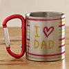 I Love Dad Personalized Steel Mug