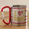 I Love Dad Personalized Steel Mug
