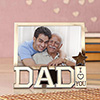 I Love You Dad Personalized Photo Frame