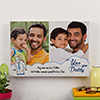 I Love You Daddy Personalized A3 Canvas