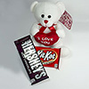 I Love You Teddy Bear With Hersheys & Kitkat Chocolate