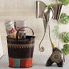 Iron Bucket Style Magazine Holder & Elephant Showpiece Hamper