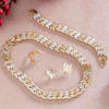 Italian Gold Copper & Platinum Plated Necklace Set