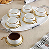 Ivory White Cups and Saucers
