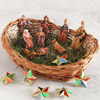 Jesus Family with Basket & Christmas Stars