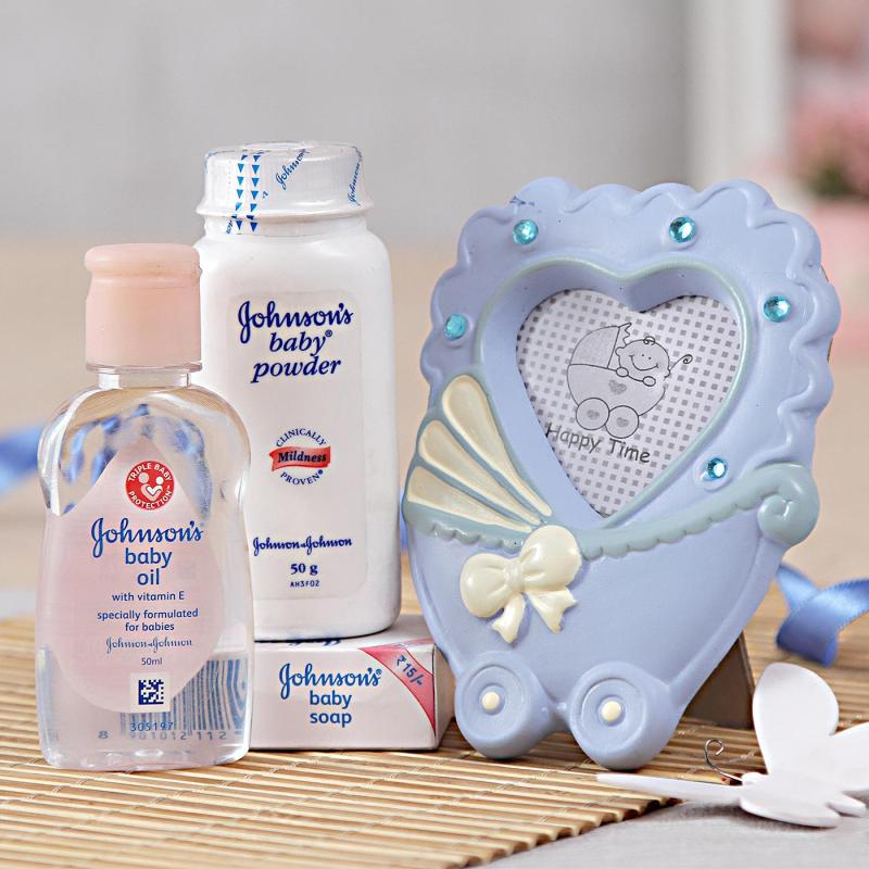 Johnsons Baby Care Hamper With Photo Frame